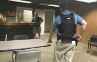 Virginia police demonstrate de-escalation techniques used in field for reporters