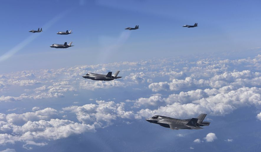 U.S. flies bombers, fighters in show of force against North Korea