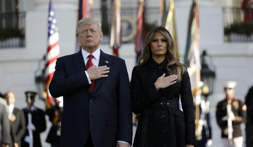 Victims remembered: Trumps observe 16th anniversary of Sept. 11, 2001, attacks
